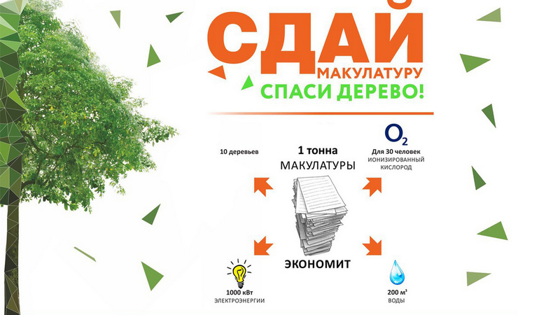 Всероссийский экомарафон «Сдай макулатуру – спаси дерево!»